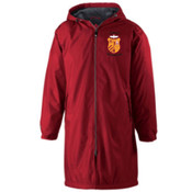 Jesuit Scarlet Conquest Parka with Swim Logo